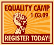 Equality Camp blog badge
